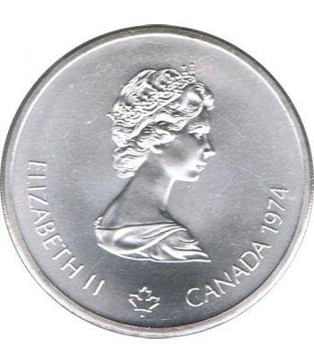 Moneda de plata 10$ Canada 1974 Montreal 1976.  - 4