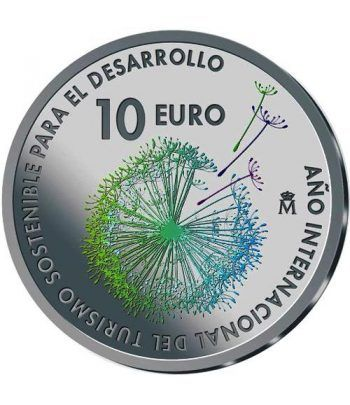 Moneda 2017 Turismo Sostenible. 10 euros Plata color.  - 1