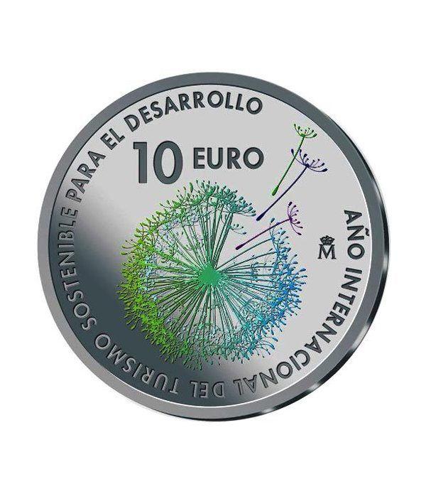 Moneda 2017 Turismo Sostenible. 10 euros Plata color.  - 1