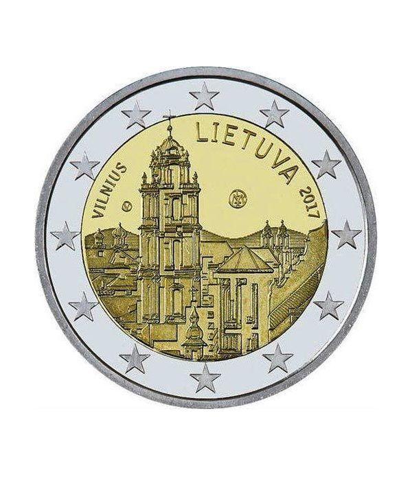 moneda conmemorativa 2 euros Lituania 2017 Vilnius  - 2