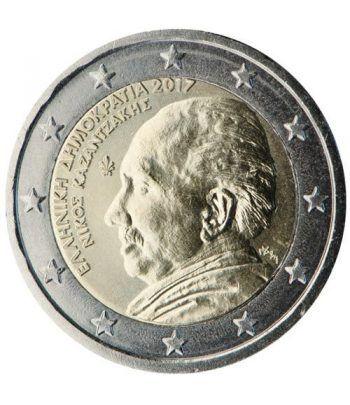 moneda conmemorativa 2 euros Grecia 2017 Kazantzakis  - 2