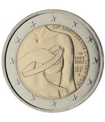 moneda conmemorativa 2 euros Francia 2017 Lazo Rosa.  - 2