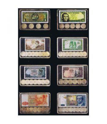 Lingotes de plata 8 billetes y monedas peseta. 248.80 gramos.  - 1