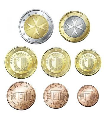 monedas euro serie completa 8 monedas Malta 2008  - 2