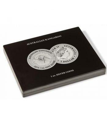 LEUCHTTURM Estuche de madera para 20 monedas CANGURO. Estuche Monedas - 2