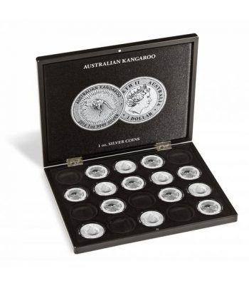 LEUCHTTURM Estuche de madera para 20 monedas CANGURO. Estuche Monedas - 4