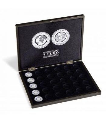 Estuche para 30 monedas 5 euros Alemania. Negro Estuche Monedas - 4