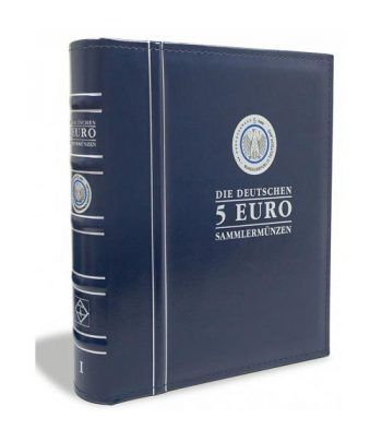 LEUCHTTURM Álbum OPTIMA preimpreso monedas 5 euros Alemania Album Monedas Euro - 1