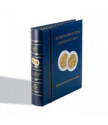 LEUCHTTURM OPTIMA Album preimpreso monedas 2 Euros Conjuntas Album Monedas Euro - 1