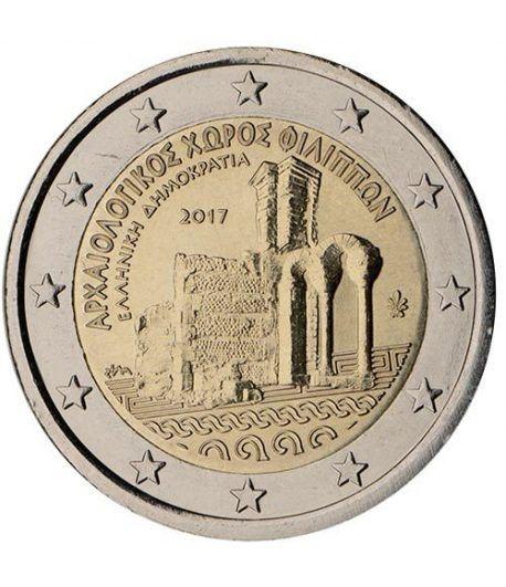 moneda conmemorativa 2 euros Grecia 2017 Filipos.  - 2