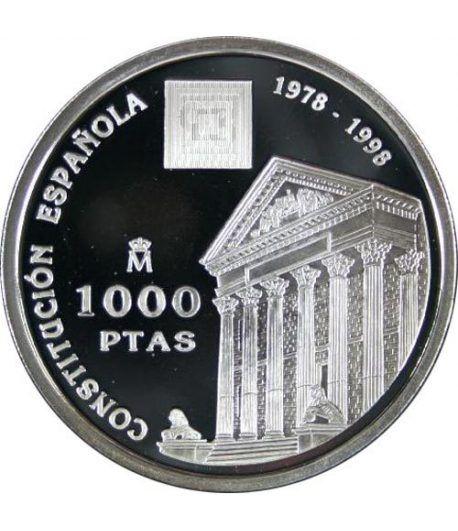 1000 Pesetas 1998 Constitución Española XX Aniversario. Madrid  - 1