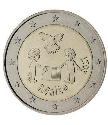 moneda conmemorativa 2 euros Malta 2017 Solidaridad Paz  - 2