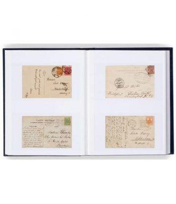 LEUCHTTURM Clasificador postales y Hoja Bloque 32 hojas blancas. Clasificadores sellos - 2