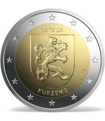 moneda conmemorativa 2 euros Letonia 2017 Kurzeme.  - 2