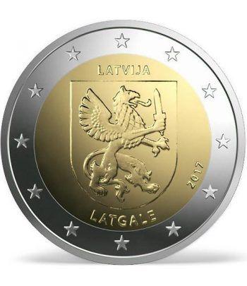 moneda conmemorativa 2 euros Letonia 2017 Latgale.  - 2