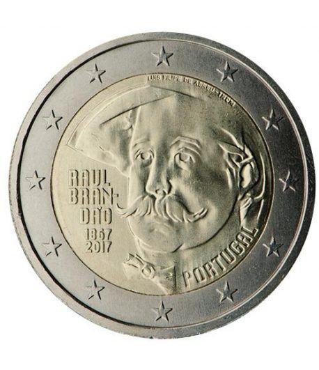moneda conmemorativa 2 euros Portugal 2017 Raúl Brandão.  - 2