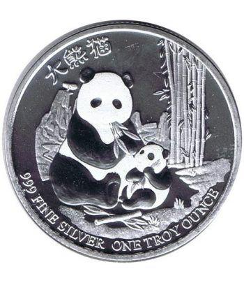 Moneda onza de plata 2$ Niue Panda Chino 2017.  - 2