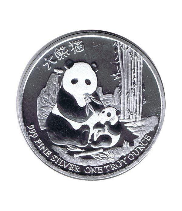 Moneda onza de plata 2$ Niue Panda Chino 2017.  - 1
