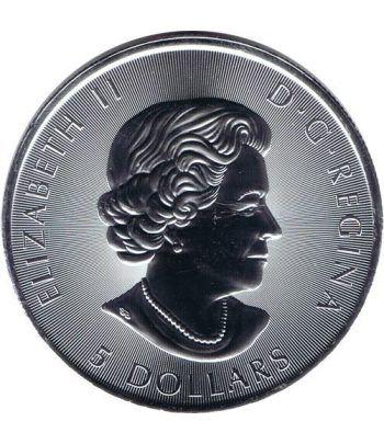 Moneda onza de plata 5$ Canada 150 Aniversario Canoa 2017  - 4