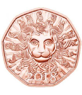 moneda Austria 5 Euros 2018 Año Nuevo. León. Cobre.  - 1