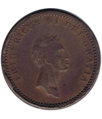 Dinamarca moneda 12 Skilling 1812 Frederick VI. Cobre.  - 1