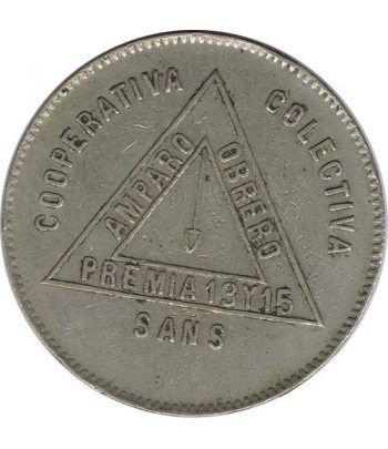 Moneda 5 pesetas Cooperativa Colectiva Sans.  - 1
