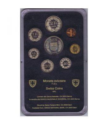 Estuche monedas Suiza 1984  - 4