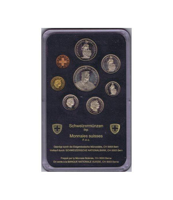 Estuche monedas Suiza 1984  - 1