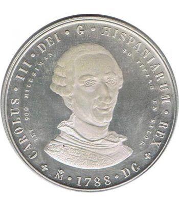 Medalla Bicentenario Carlos III / Juan Carlos I. Plata  - 1