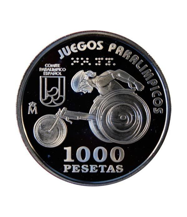 1000 Pesetas 2000 Juegos Paralímpicos Corredor Silla ruedas.  - 2