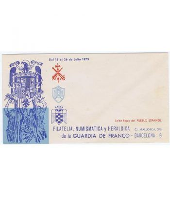 1973 Sobre Filatelia, Numismática y Heraldica Guardia Franco  - 1