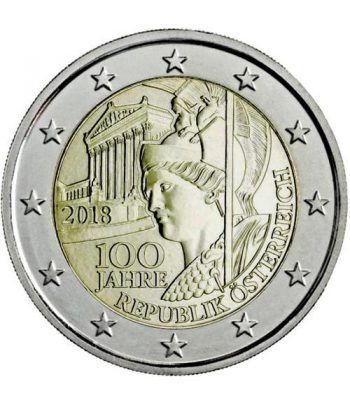 moneda conmemorativa 2 euros Austria 2018 Centenario.  - 2