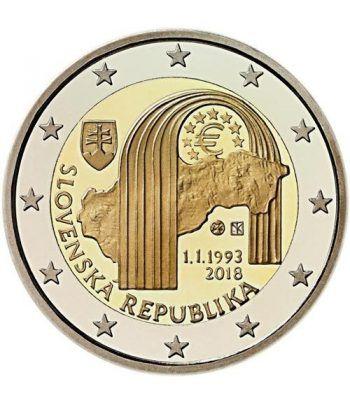 moneda conmemorativa 2 euros Eslovaquia 2018.  - 2