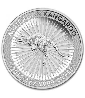 Moneda onza de plata 1$ Australia Canguro 2018  - 1