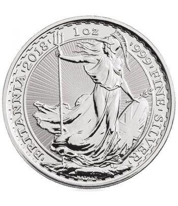 Moneda de plata Britannia 2 Pounds Inglaterra 2018.  - 2