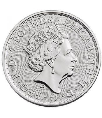Moneda de plata Britannia 2 Pounds Inglaterra 2018.  - 4