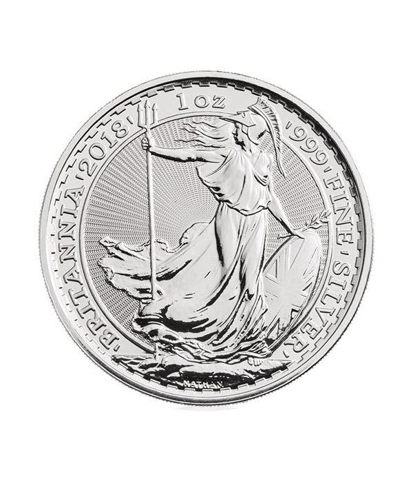 Moneda de plata Britannia 2 Pounds Inglaterra 2018.  - 1