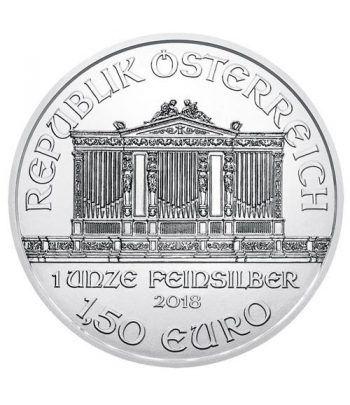 Moneda onza de plata 1,5 euros Austria Filarmonica 2018.  - 1
