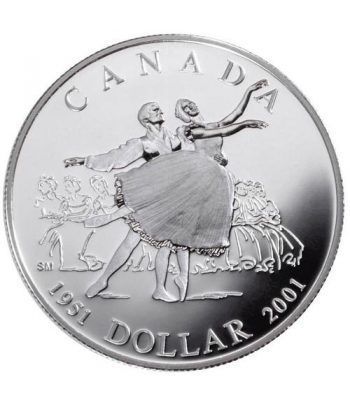 Moneda de plata 1 Dollar Canada 2001 Ballet. Proof.  - 1