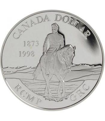 Moneda de plata 1 Dollar Canada 1998 Policia Montada. Proof.  - 1