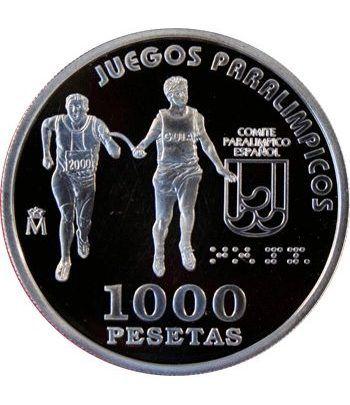 1000 Pesetas 2000 Juegos Paralímpicos Corredor Invidente. Madrid  - 2