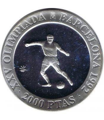 2000 Pesetas 1990 Juegos Olimpicos Barcelona'92 Futbol FDC  - 1