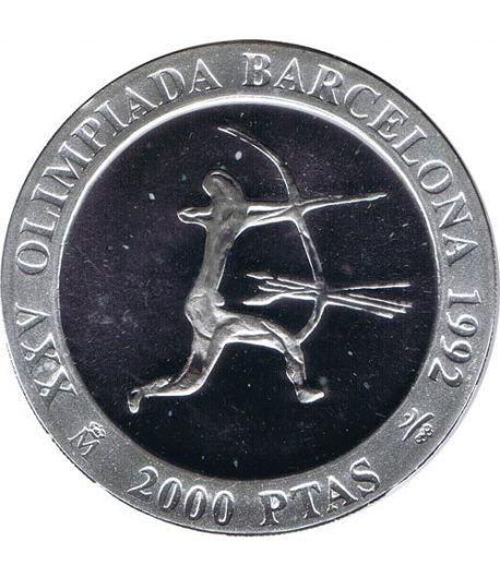 2000 Pesetas 1990 Juegos Olimpicos Barcelona'92 Arquero FDC  - 1