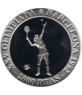2000 Pesetas 1991 Juegos Olimpicos Barcelona'92 Tenis FDC  - 1