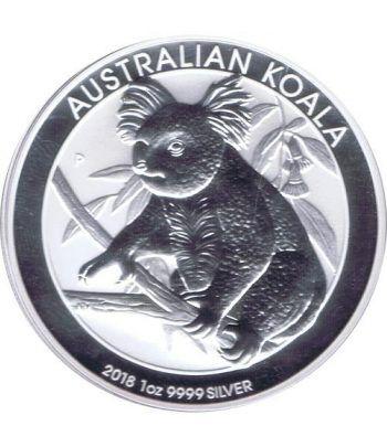 Moneda onza de plata 1$ Australia Koala 2018  - 1