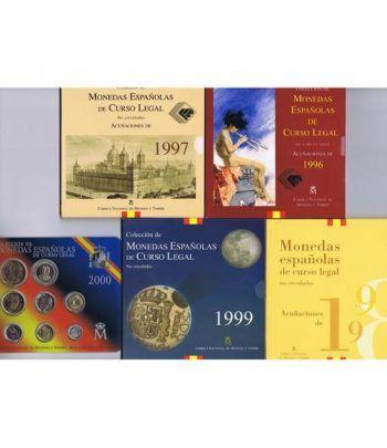Colección 10 carteras FNMT España 1992 a 2001.  - 6