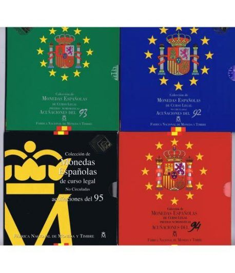 Colección 10 carteras FNMT España 1992 a 2001.  - 1
