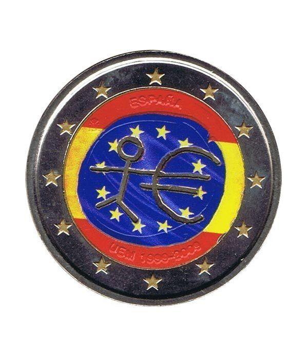 """moneda España 2 euros 2009 """"10 Años de la EMU"""". Color B  - 2"""