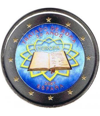 moneda España 2 euros 2007 Tratado de Roma. Color B  - 2