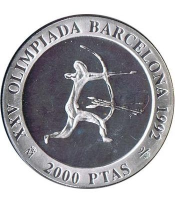 2000 Pesetas 1990 Juegos Olimpicos Barcelona'92 Arquero suelta  - 1